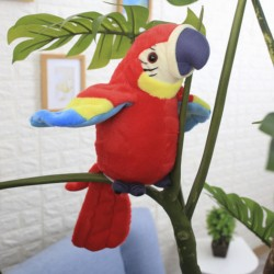 Beszélő papagáj piros 21cm