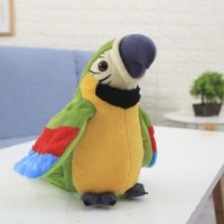 Beszélő papagáj zöld 21cm