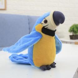 Beszélő papagáj kék 21cm