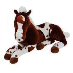 Plüss ülő ló 48cm barna