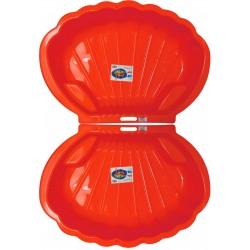 Kagyló alakú homokozó piros 2x
