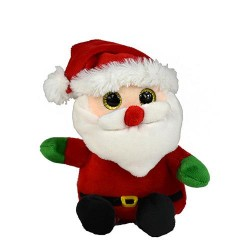 Plüss karácsonyi figura...