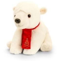 Plüss jegesmedve sállal 20cm