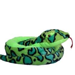 Plüss kígyó zöld 200cm